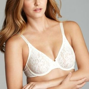 Wacoal Halo Lace Unlined Underwire Bra 38D Ivory
